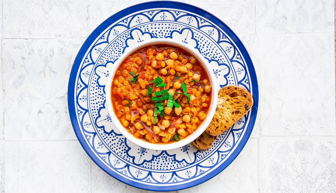 Lentil and chickpea stew