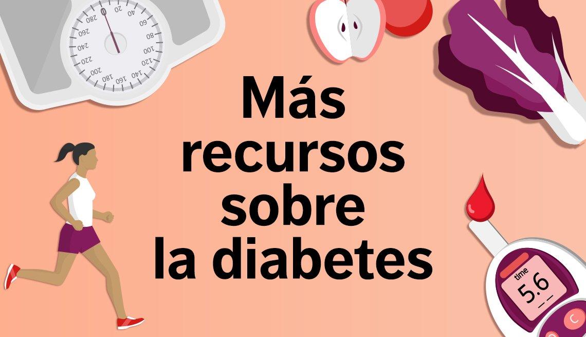 Más recursos sobre la diabetes.