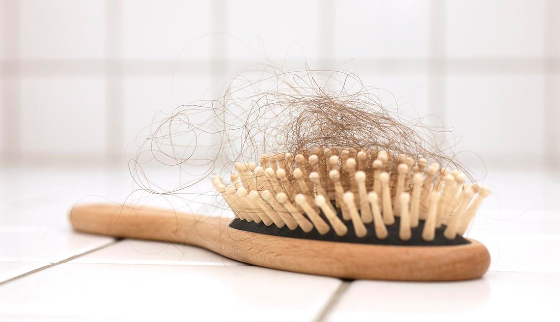 hair in hairbrush