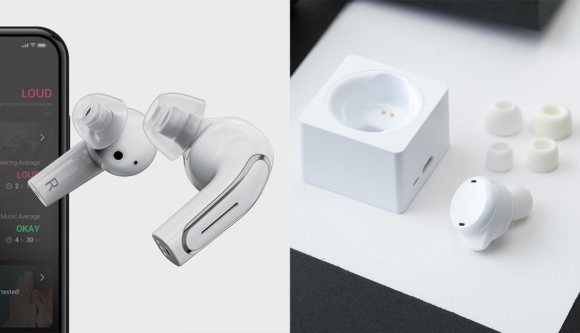 Dos productos de Olive Smart Ear, ambos aplifican los sonidos