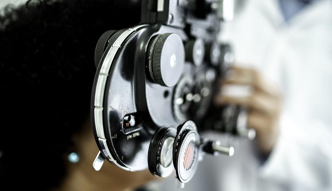 women undergoing an eye exam