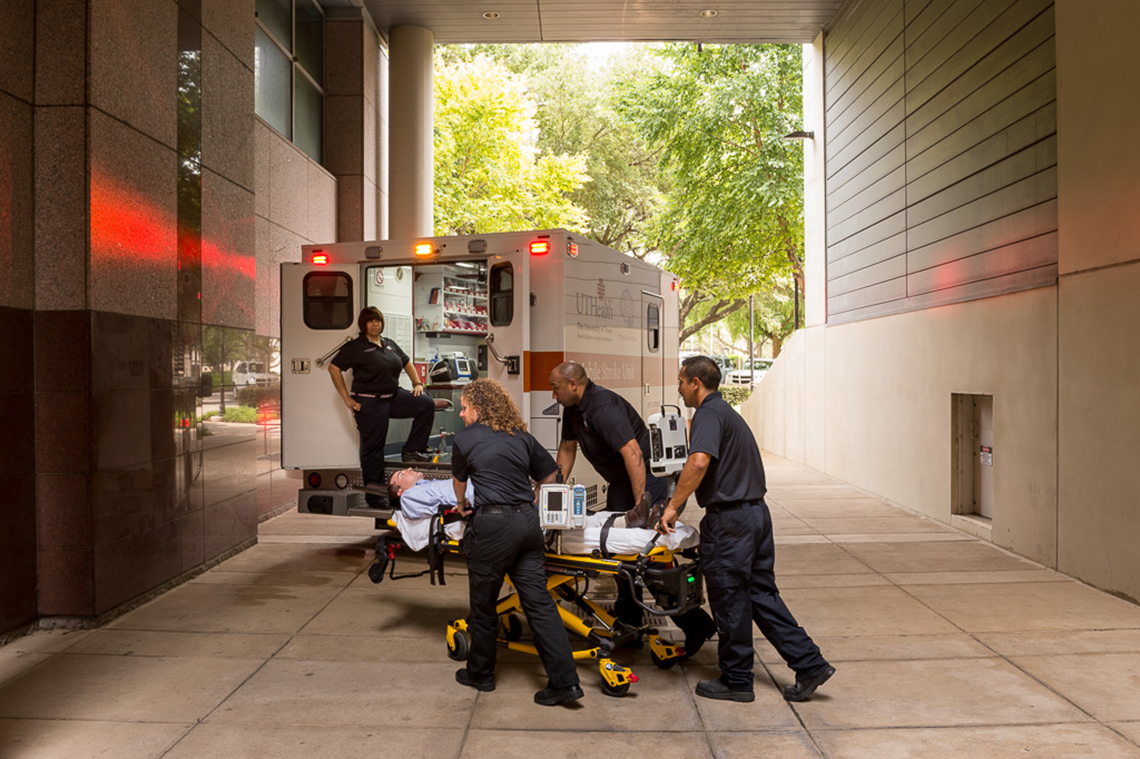 the mobile stroke unit taking a patient in for fast treatment