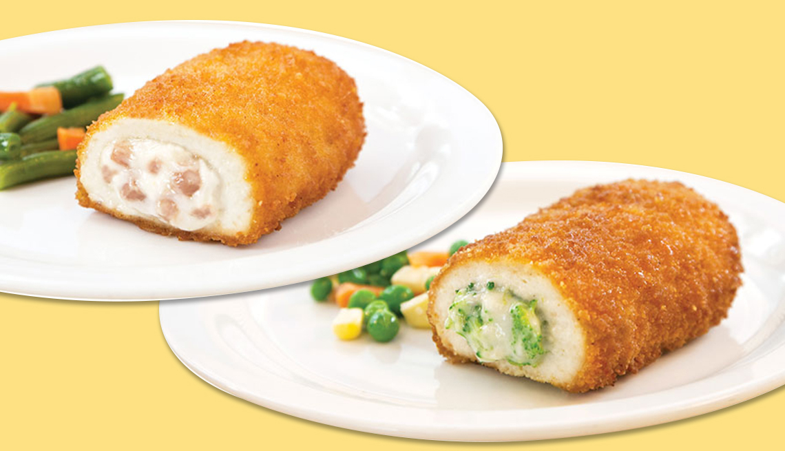 frozen product recall shows two of the chicken prepared foods being recalled