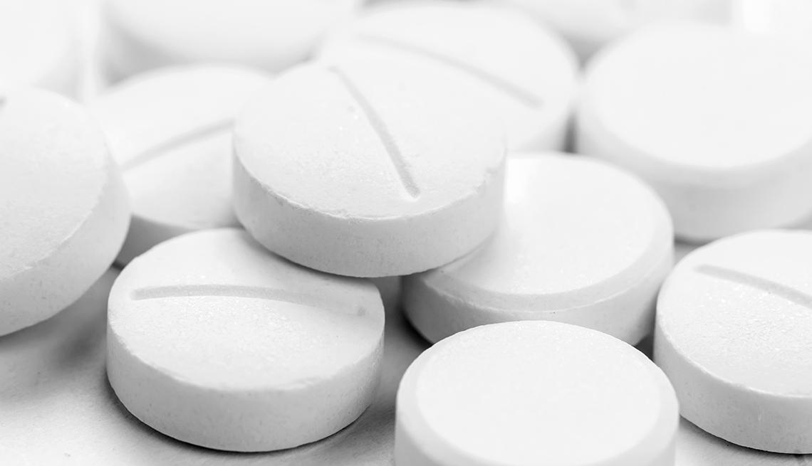 aspirin on a white background