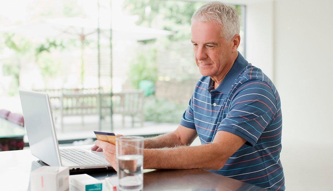Man ordering at computer