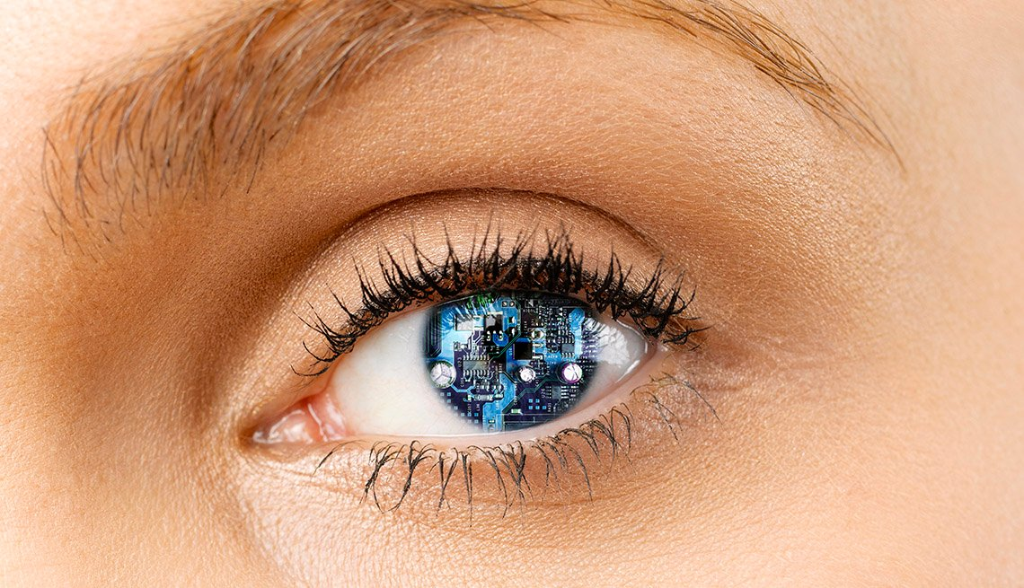 Perfil del ojo de una persona