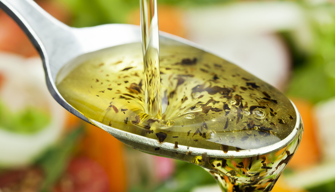 Cucharada de aceite de oliva y otras especias