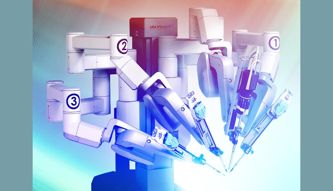 Imagen de un robot visto desde la parte lateral.