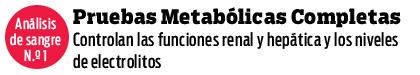 Análisis de sangre N.º 1 - Pruebas Metabólicas Completas
