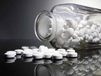 bottle of aspirin