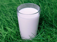 glass of milk - get more calcium to prevent osteoporosis
