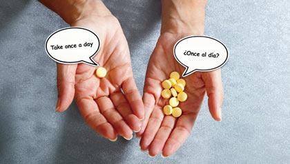 Translated drug labels often wrong