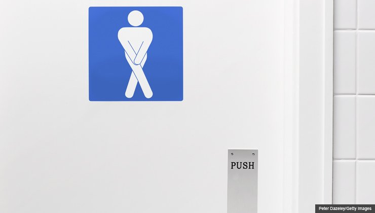 Desperate man toilet door sign - Ask the Pharmacist: What drug works for urinary incontinence