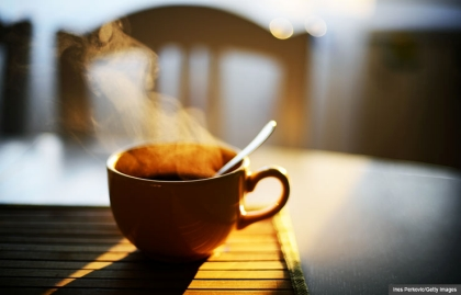 Steaming cup of coffee. Is too much caffeine bad for you? (Ines Perkovic/Getty Images)