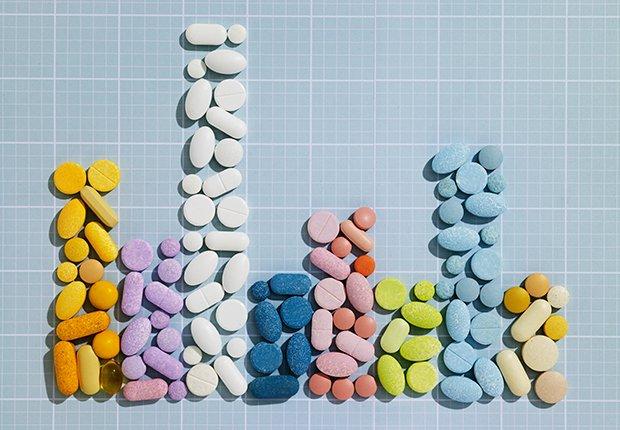 Gráfico hecho de diferentes pastillas