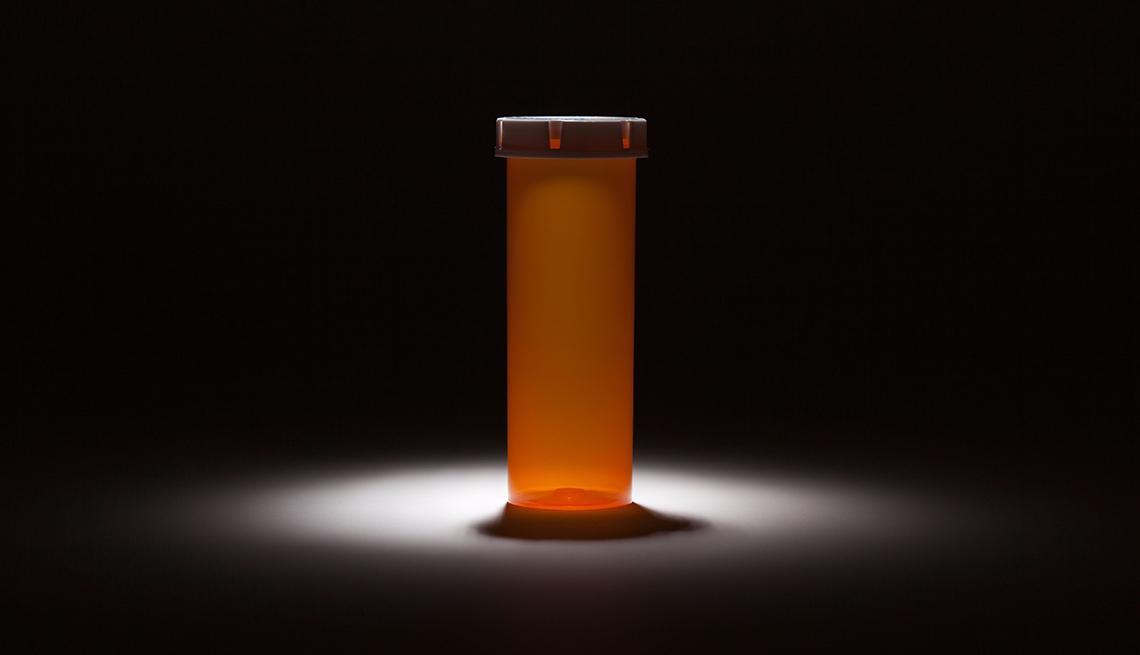 Frasco de medicamentos vacío