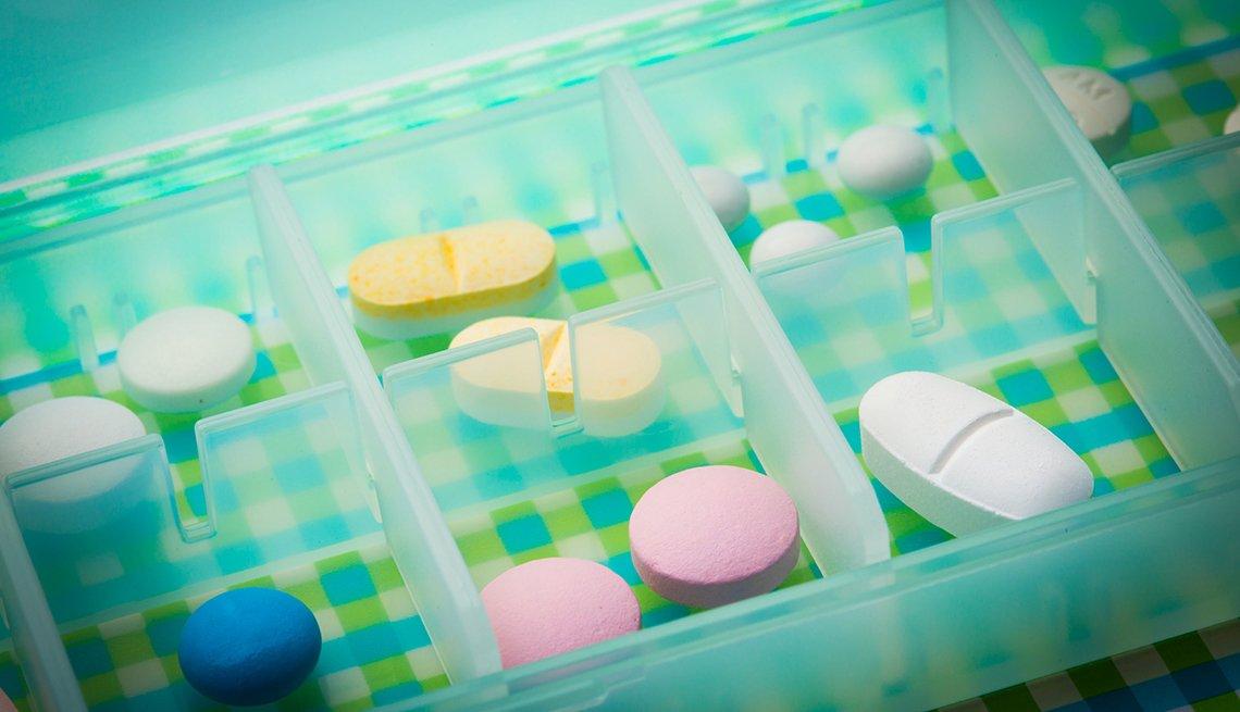 Caja de pastillas para viajes