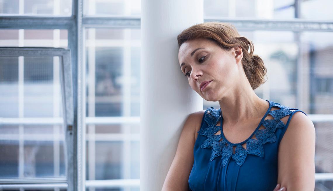 Mujer con depresión