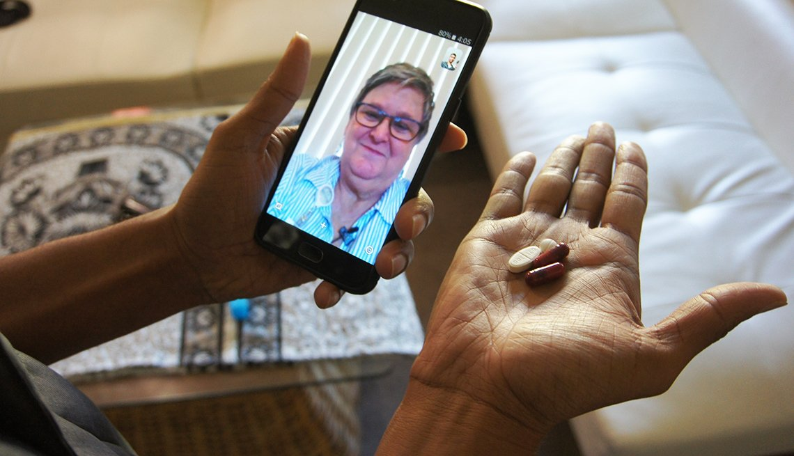 Woman uses selfie app to track patient medication