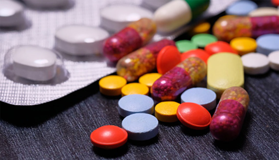 Supplements and drugs on table