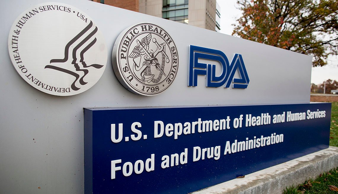 Rótulo a la entrada de las oficinas de la FDA