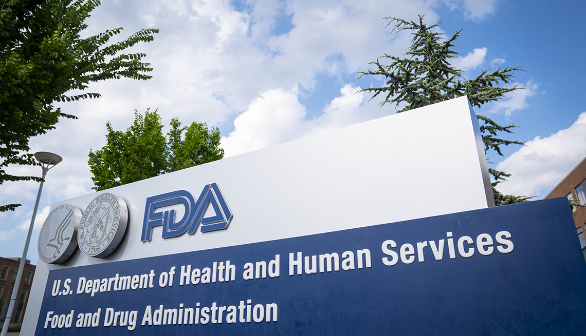 a sign for the Food And Drug Administration building