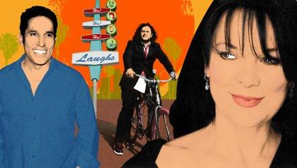 Three Latino comedians - Oscar Nuñez, Felipe Esparza and Monique Marvez