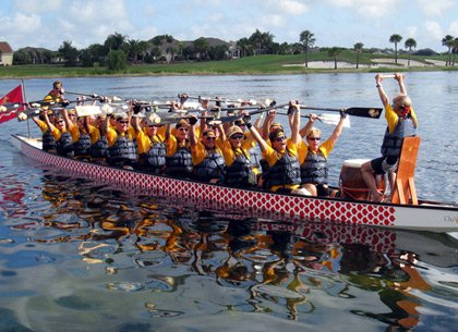 Team Leatherneck - dragon boat racing champs