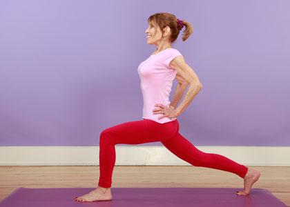 lunge yoga pose