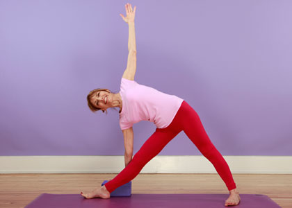 triangle yoga pose