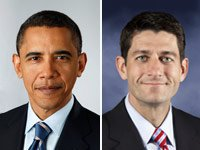 Presidente Barack Obama y representante Paul Ryan