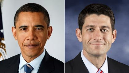 Presidente Barack Obama y representante Paul Ryan