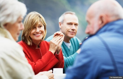 Group of mature mens and women together, 10 Rules for Living Your Best Life After 50 (Tim Pannell/Corbis)