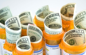 Money and prescription bottles, Haggle on Your Health.