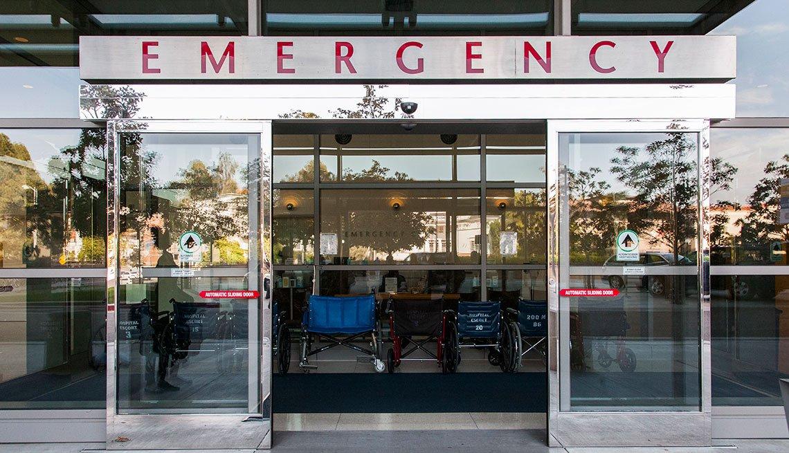 Door to an emergency room