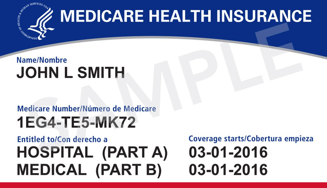Medicare health insurance card