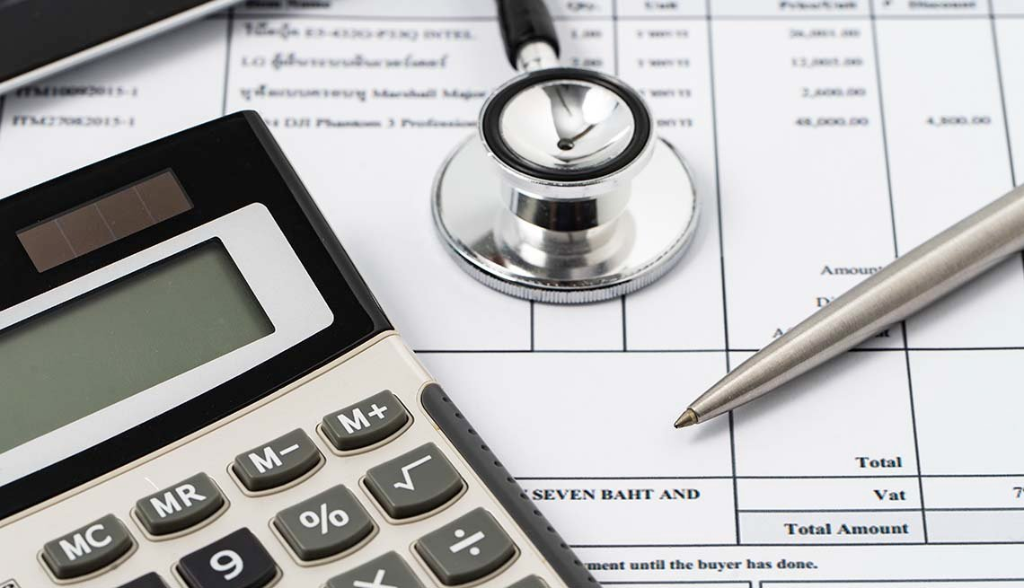 Calculator and Medical Bill