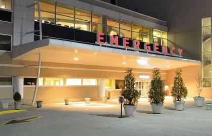 Entrada a la sala de emergencia de un hospital