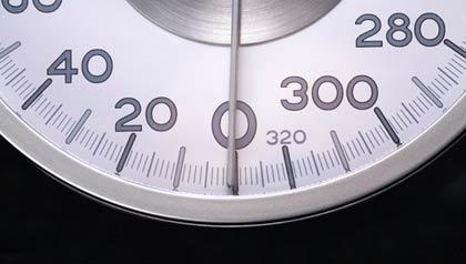 Body Mass Index measuring clock