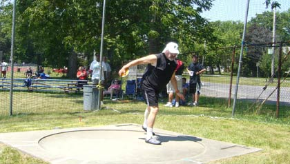 Profile of Steve Marcus, a 68-year-old discus thrower who got back into the sport at age 65. In July he is heading to Ohio to compete in the National Masters Field and Track games.