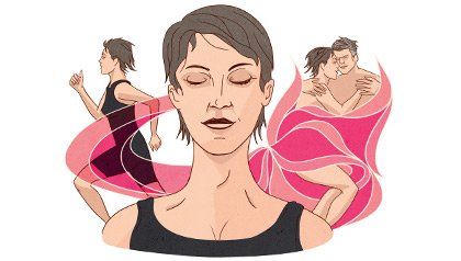 illustration: exercise and sex may help reduce stress