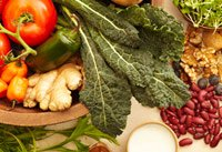 Healthy foods - beans, nuts and vegetables - can help you cut back on red meat.