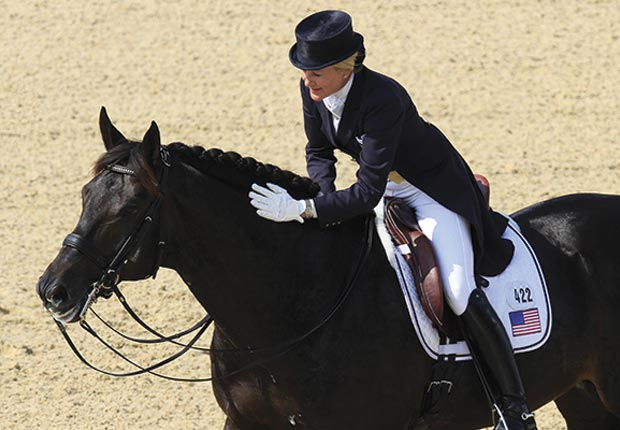 Tina Konyot will compete for the United States in the equestrian events during the London Olympic Games