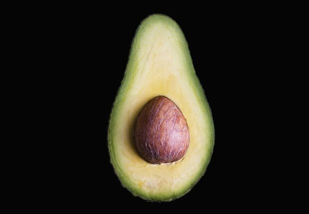 Half of an Avocado with Pit, Foods That Fight Cholesterol