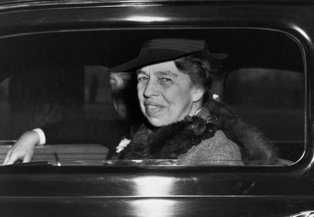 Eleanor Roosevelt - celebridades y políticos que podía dormir en cualquier lugar