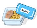 Alimentos en un envase