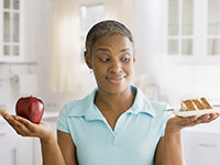 A healthy diet can help you prevent diabetes.