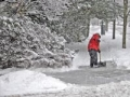 Winter weather health shoveling snow