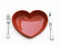 Red heart-shaped plate, New American Diet quiz