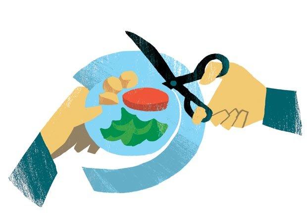 Reducir el tamaño de sus platos de comida - Cambios para mejorar la salud